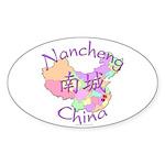 Nancheng China Map Oval Sticker