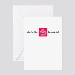 Half price books greeting cards cafepress waste not read a lot greeting card m4hsunfo