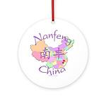 Nanfeng China Map Ornament (Round)