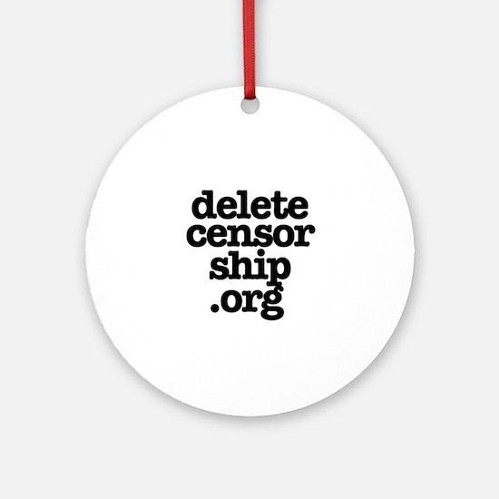 Delete Censorship Ornament (Round)