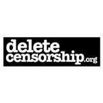 Delete Censorship Bumper Sticker (50 pk)