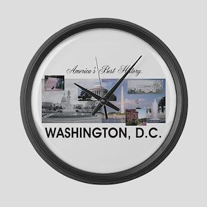 Washington Americasbesthistory.co Large Wall Clock