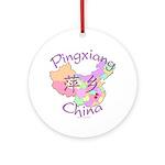 Pingxiang China Map Ornament (Round)