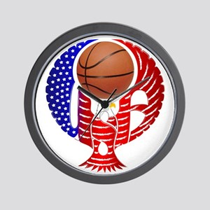 USA Basketball Team Wall Clock