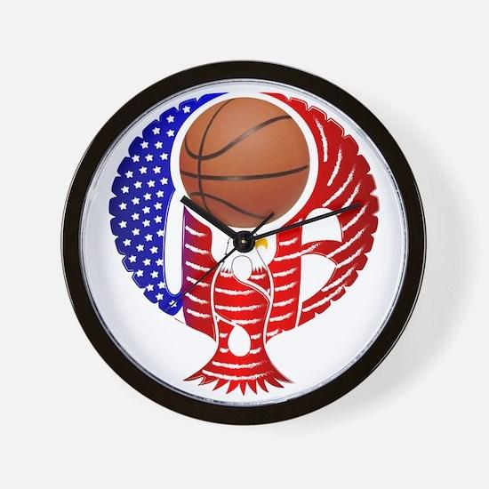 USA Basketball Team Wall Clock