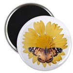 American Lady and Blanket Flower Magnet