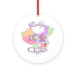 Ruijin China Map Ornament (Round)