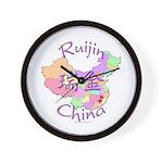 Ruijin China Map Wall Clock