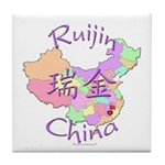 Ruijin China Map Tile Coaster