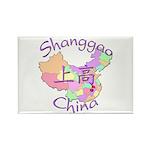 Shanggao China Map Rectangle Magnet (10 pack)