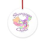 Shanggao China Map Ornament (Round)