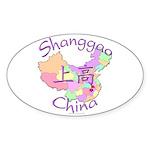Shanggao China Map Oval Sticker (10 pk)