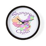 Shangrao China Map Wall Clock