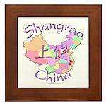 Shangrao China Map Framed Tile