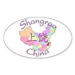 Shangrao China Map Oval Sticker