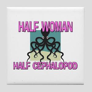 Half Woman Half Cephalopod Tile Coaster
