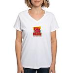 Feed Your Brain Women's V-Neck T-Shirt
