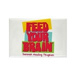 Feed Your Brain Rectangle Magnet (10 pack)