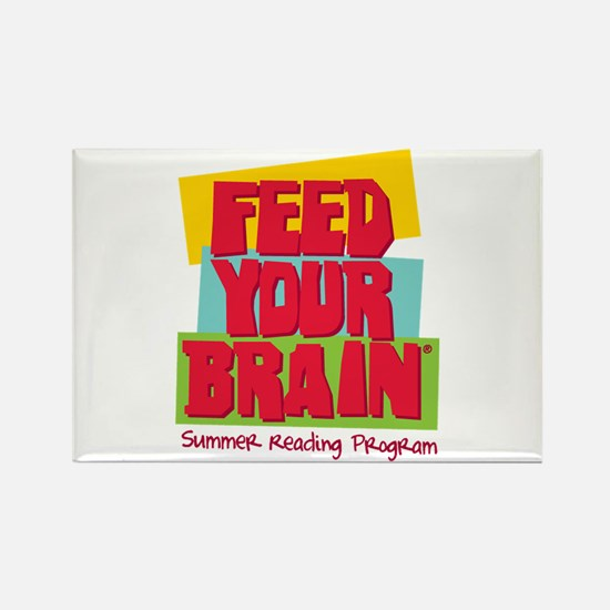 Feed Your Brain Rectangle Magnet