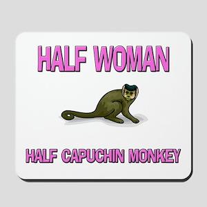 Half Woman Half Capuchin Monkey Mousepad
