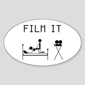 Film It Oval Sticker