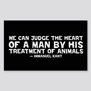 Quote - Kant - Heart of a man Rectangle Sticker
