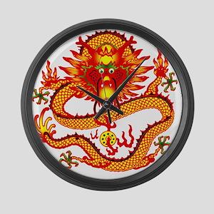 Golden Dragon Giant Clock