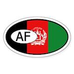 Afghanistan Flag Oval Sticker