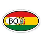 Bolivia Flag Oval Sticker