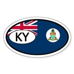 Cayman Islands Flag Oval Sticker