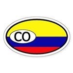 Colombia Flag Oval Sticker