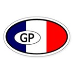 Guadeloupe Flag Oval Sticker