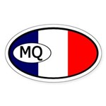 Martinique Flag Oval Sticker