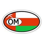 Oman Flag Oval Sticker