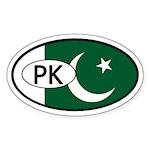 Pakistan Flag Oval Sticker
