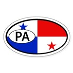 Panama Flag Oval Sticker