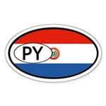 Paraguay Flag Oval Sticker