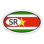 Suriname Flag Oval Sticker