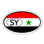 Syria Flag Oval Sticker