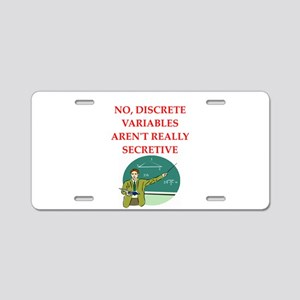 math joke Aluminum License Plate