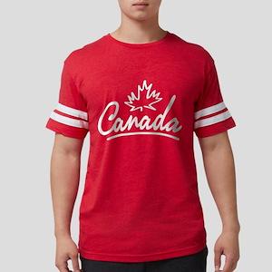 Canada Leaf Script Women's Dark T-Shirt