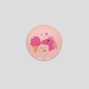 Ice Cream Pony Mini Button