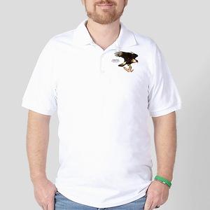 Crested Caracara Golf Shirt