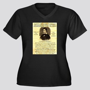 Davy Crockett Women's Plus Size V-Neck Dark T-Shir