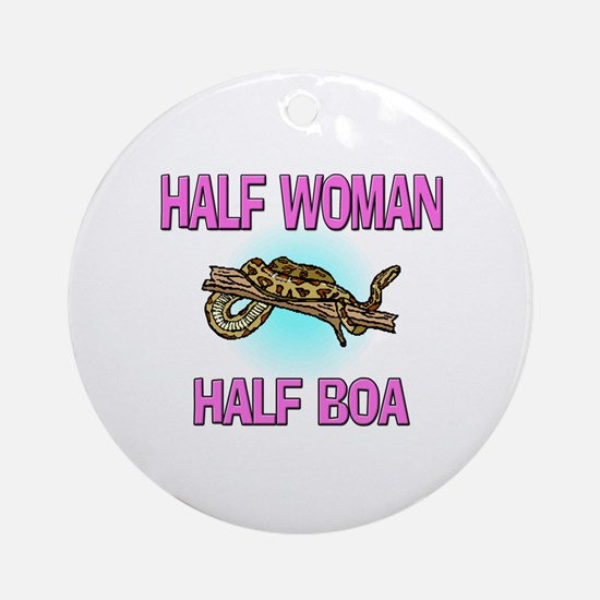 Half Woman Half Boa Ornament (Round)