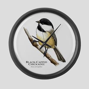 Black-Capped Chickadee Giant Clock