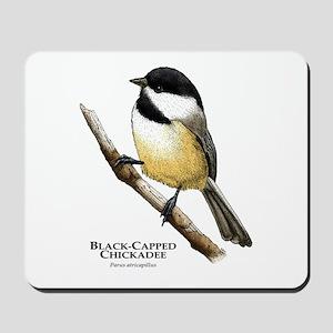 Black-Capped Chickadee Mousepad