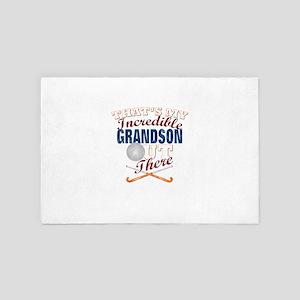 Field Hockey Grandson, Grandpa & G 4' x 6' Rug