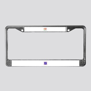 I'm perfectly normal for a Ped License Plate Frame