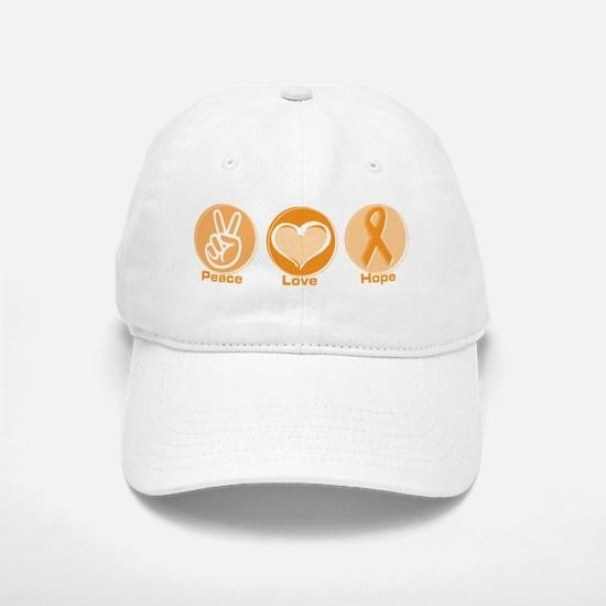 Peace Love Orange Hope Baseball Baseball Cap
